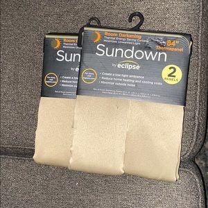 Room darkening shades (2 pack, 2in a pack) 84""
